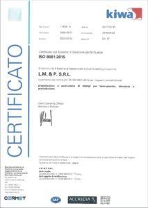 Certificato ISO 9001:2015